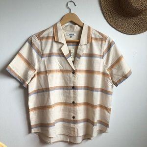 Madewell Camp Shirt in Stripe sz L BNWT